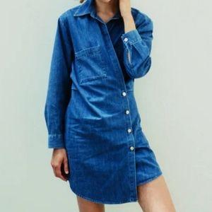Zara Denim long sleeve  Wrap dress